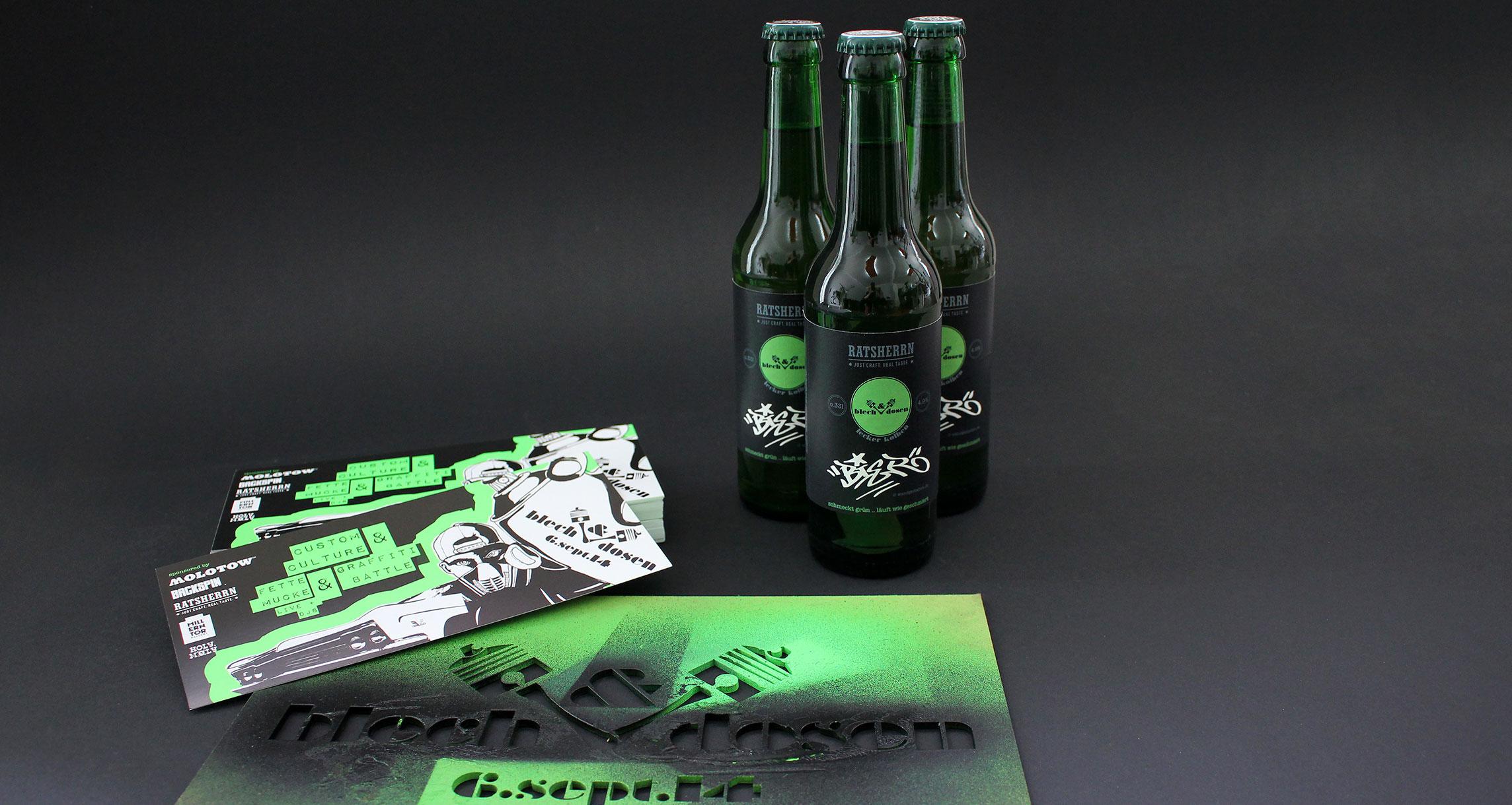 blech & Dosen Event Werbung