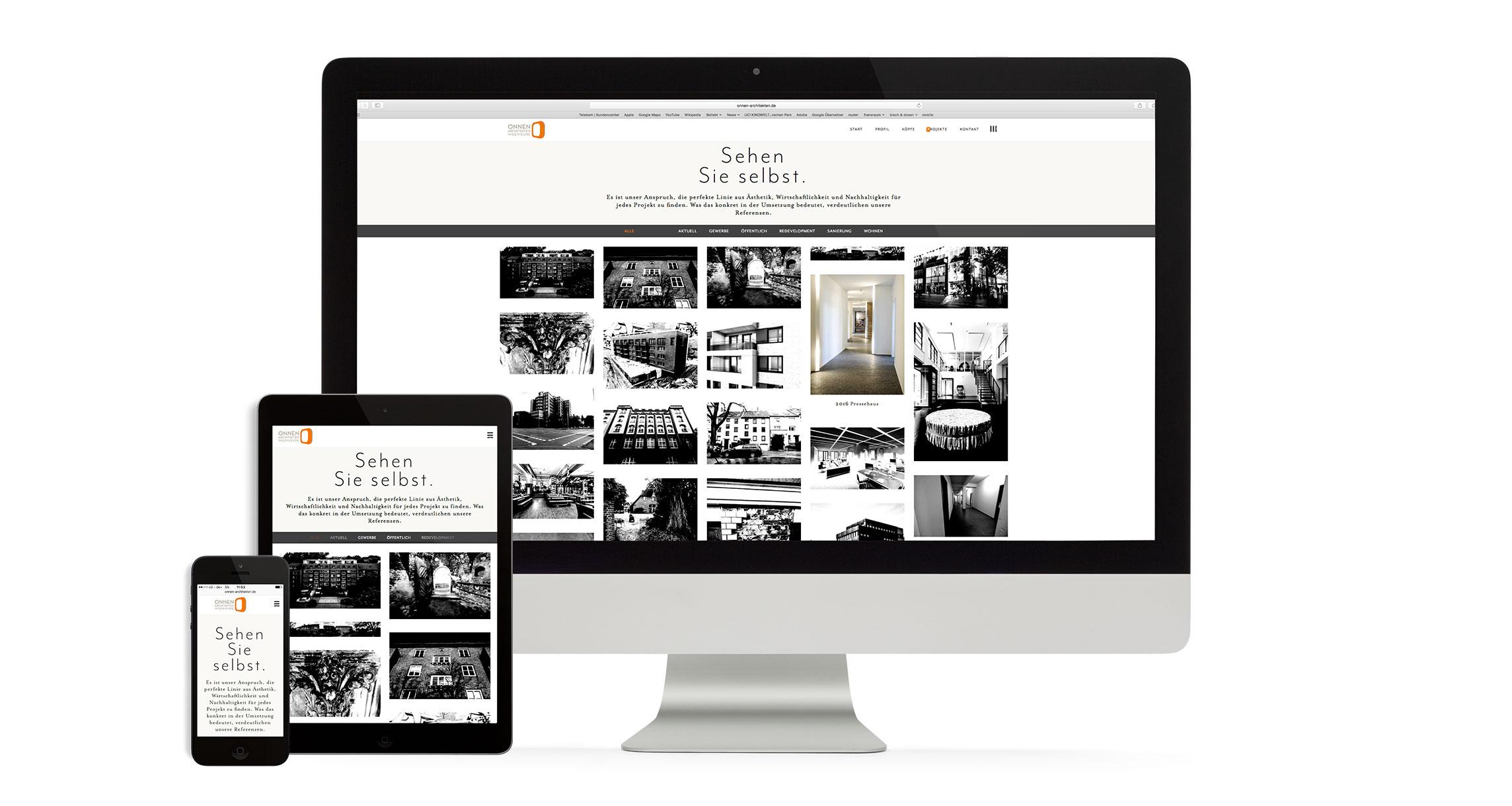Responsive Webdesign für Onnen Architekten Hamburg